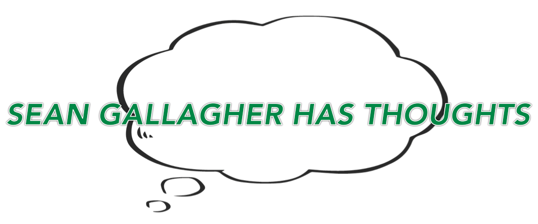 Sean Gallagher Has Thoughts